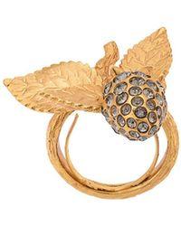 Oscar de la Renta Berry Pearl Ring - Metallic