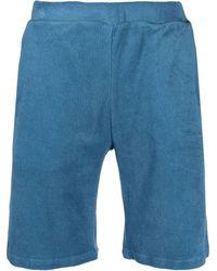 Majestic Filatures Straight-leg Track Shorts - Blue