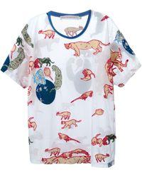 Walter Van Beirendonck T-Shirt mit Tierstickereien - Weiß