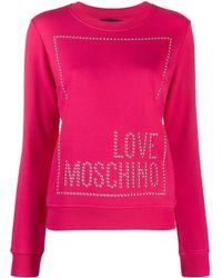 Love Moschino スタッズロゴ スウェットシャツ - ピンク