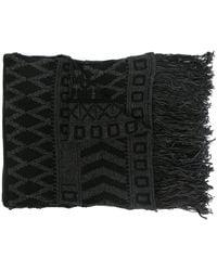Isabel Benenato フリンジ スカーフ - ブラック