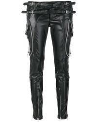 Faith Connexion - Zip Detail Patent Look Trousers - Lyst