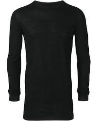 Rick Owens - Langes Sweatshirt - Lyst