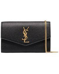 Saint Laurent Monogram Envelope Bag - Black