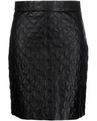 FEDERICA TOSI Minifalda acolchada - Negro