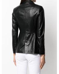 DESA NINETEENSEVENTYTWO Single-breasted Leather Jacket - Black