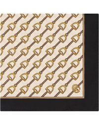 Gucci - Scarf With Stirrups Print - Lyst