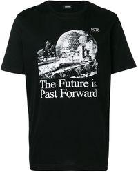 DIESEL プリント Tシャツ - ブラック