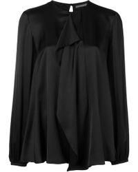 Alexander McQueen Loose Fit Blouse - Черный