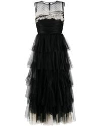 RED Valentino ティアード イブニングドレス - ブラック