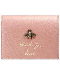 Gucci - Animalier Card Case - Lyst