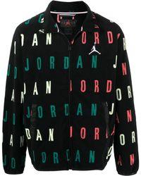 Nike ロゴプリント ジャケット - ブラック