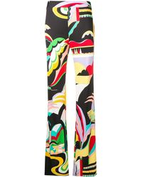 Emilio Pucci Расклешенные Брюки 'la Villa' С Принтом - Многоцветный