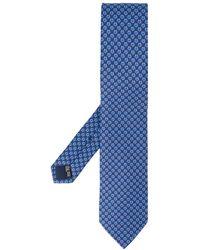 Ferragamo - Cravate Gancini à motifs géométriques en soie - Lyst