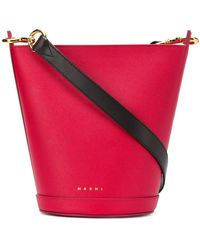 Marni Depot Bucket Bag - Red