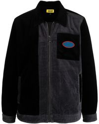 Chinatown Market バイカラー シャツジャケット - ブラック