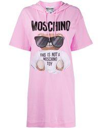 Moschino - Платье-футболка Teddy Bear С Капюшоном - Lyst