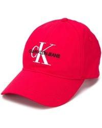 Calvin Klein Casquette à patch logo - Rouge