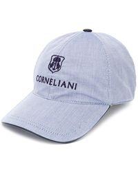 Corneliani ピンストライプ キャップ - ブラック