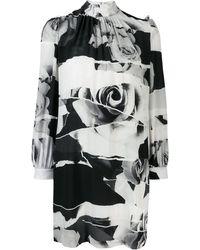Alexander McQueen Платье С Принтом - Черный