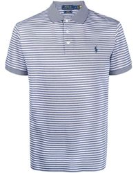 Polo Ralph Lauren ストライプ ポロシャツ - ブルー