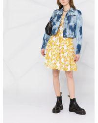 Versace Jeans Couture ブリーチ クロップド デニムジャケット - ブルー
