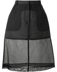 Louis Vuitton Полупрозрачная Юбка А-силуэта - Черный