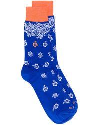 Etro Paisley Pattern Socks - Blue