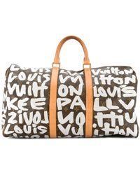 Louis Vuitton Bolso Keepall 50 Travel - Marrón