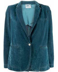 Forte Forte テーラード シングルジャケット - ブルー