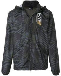 EA7 | Graphic Sports Jacket | Lyst
