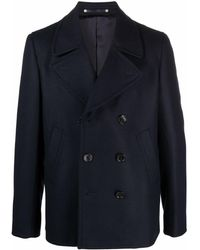 PS by Paul Smith Double-breasted Tailored Coat - Blue