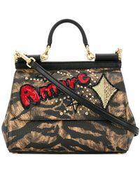 Dolce & Gabbana - Sicily Shoulder Bag - Lyst