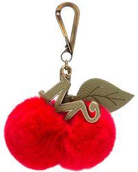 Mr & Mrs Italy Cherries Charm Keyring - Red