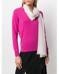 N.Peal Cashmere Pashmina Stole Scarf - Pink