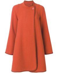 Chloé Abrigo oversize estilo cocoon - Naranja