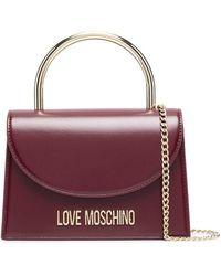 Love Moschino Мини-сумка С Металлической Ручкой - Красный