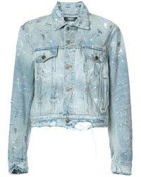 Amiri Distressed Denim Jacket - Blue