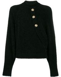 Balmain ボタン セーター - ブラック