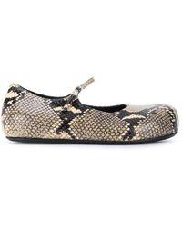 Marni Snakeskin-effect Platform Ballerina Shoes - Multicolor