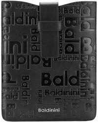 Baldinini Embossed Leather Carholder - Black