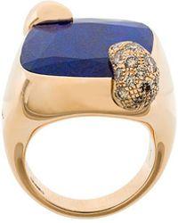 Pomellato - 18kt Rose Gold Ritratto Lapis Lazuli And Diamond Ring - Lyst