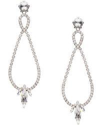 Miu Miu - Crystal Drop Earrings - Lyst