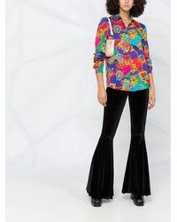 Versace Jeans Couture フレアパンツ - ブラック