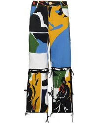 BETHANY WILLIAMS Graphic-print Flared Detachable Trousers - Blue