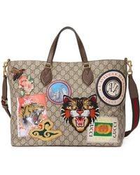 Gucci - Borsa Shopping 'courrier' In Tessuto Gg Supreme - Lyst
