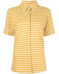 Bambah Camisa de manga corta a rayas - Amarillo