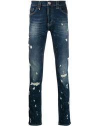 Philipp Plein Super Straight Statement Jeans - Blue