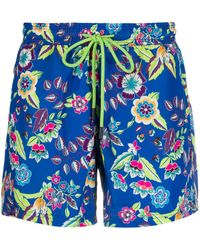 Etro Floral Print Swimming Shorts - Blue