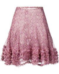 Stella McCartney フローラル ミニスカート - ピンク